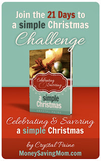 http://moneysavingmom.com/2013/12/21-days-to-a-simple-christmas-challenge-day-1.html