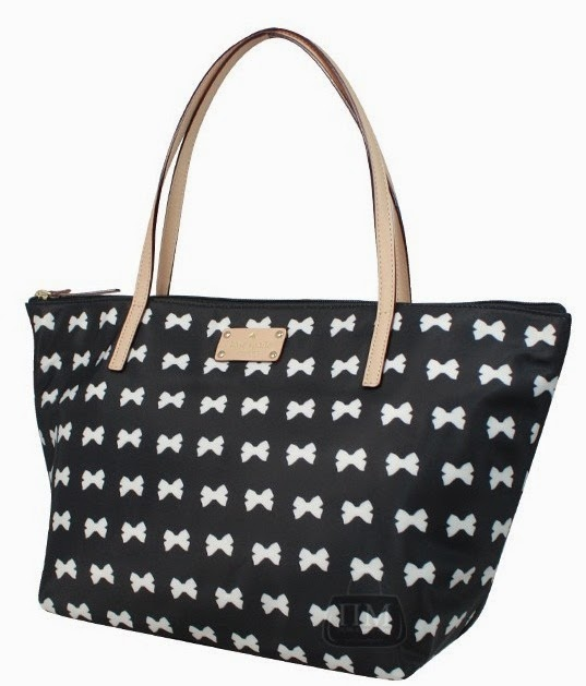 Kate Spade Kennedy Park bow tote blk S$178