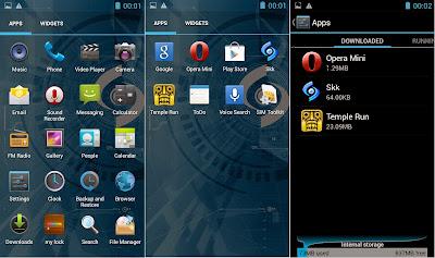 SKK Mobile Mirage S1 Default Apps