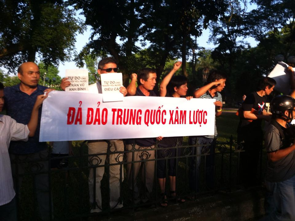 10341860 671602569554613 7908490070769360607 n Preview of Anti China Protest in Front Of Chinese Embassy in Hanoi