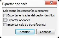 neo 2.0 - Exportar configuraciones en FileZilla - 2