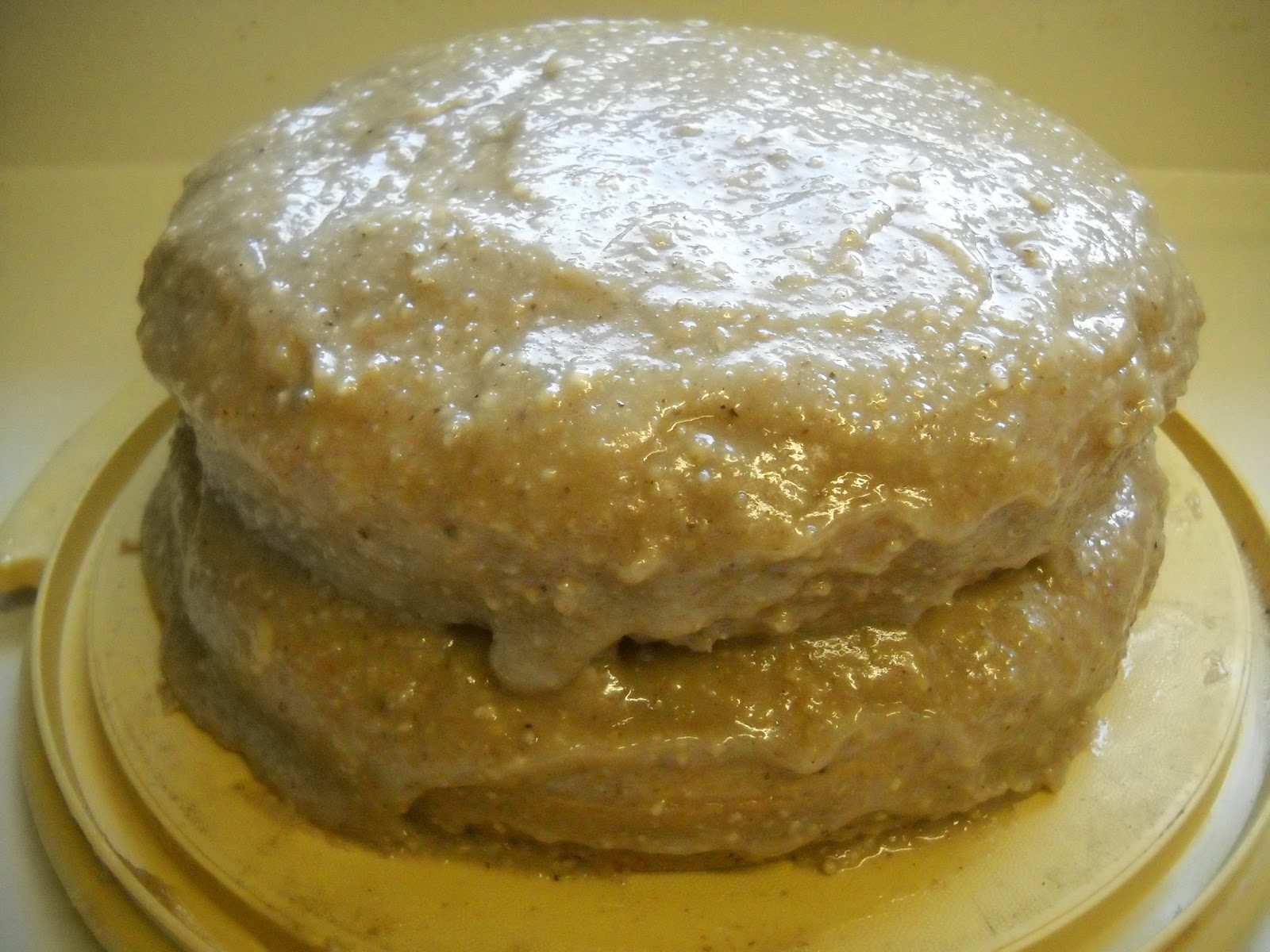 Blessed Vegan Life: Walnut Cake with Walnut Cream Cheese Frosting