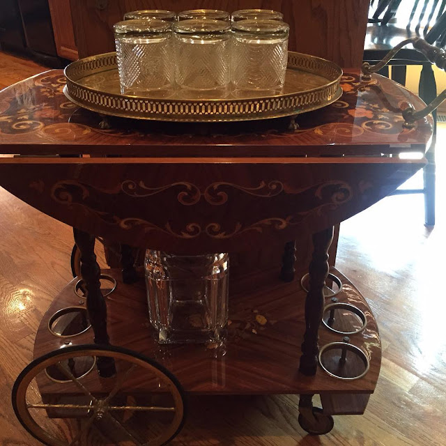 #thriftscorethursday Week 75 | Instagram user: ageekforchic shows off this Ornate Bar Cart