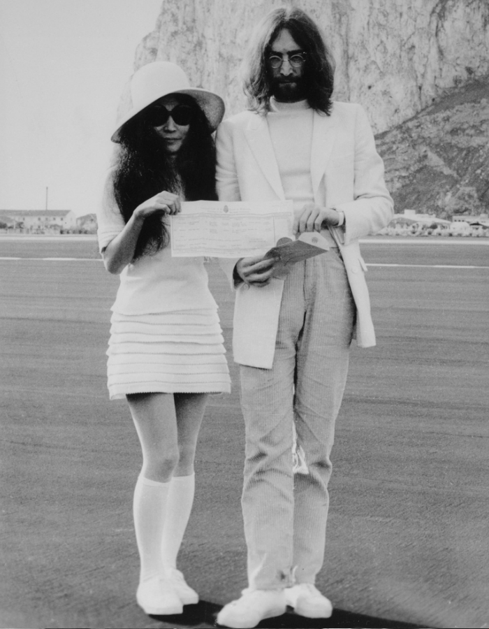 John Lennon and Yoko Ono Wedding