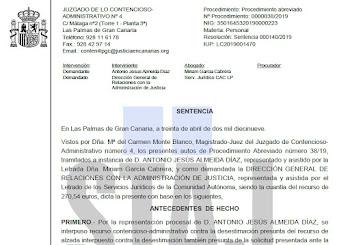 SENTENCIA GANADA POR STAJ DE PAGA EXTRAORDINARIA EN SUSTITUCIÓN VERTICAL (30/04/19)