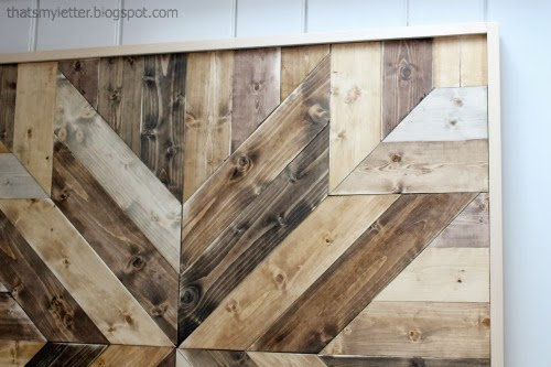 Inspired by Pottery Barn's planked quilt square :