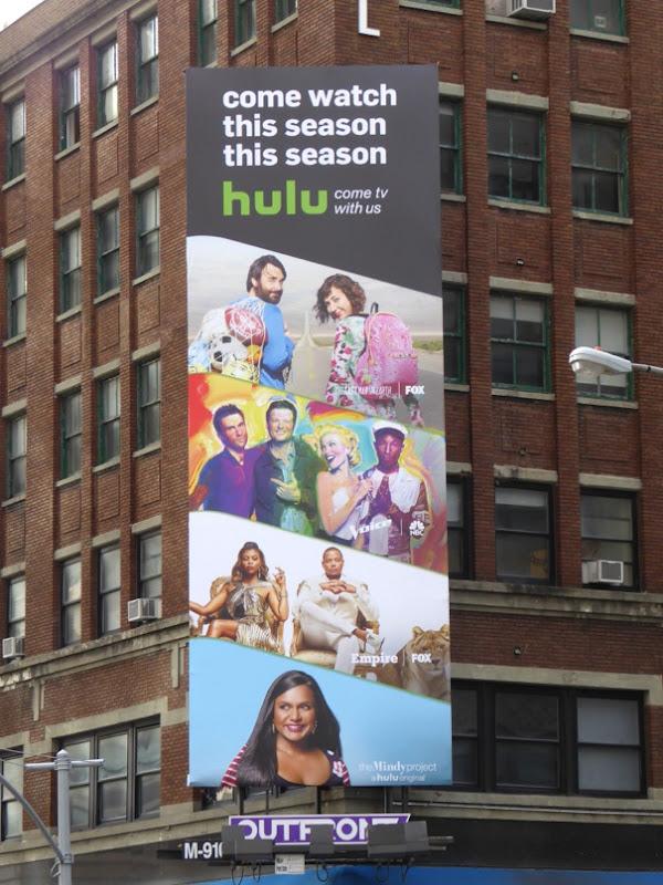 Hulu Come watch this season billboard NYC