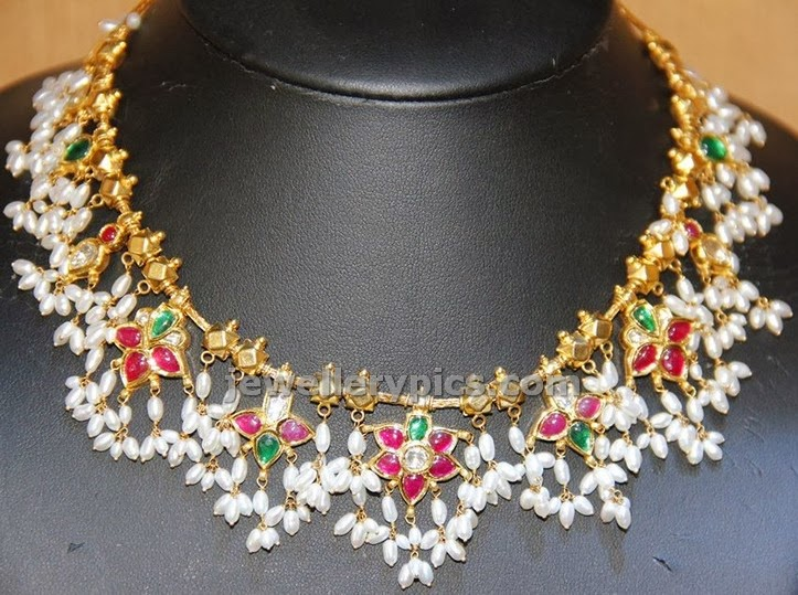 gotta pusalu antique traditional indian jewellery with pearls