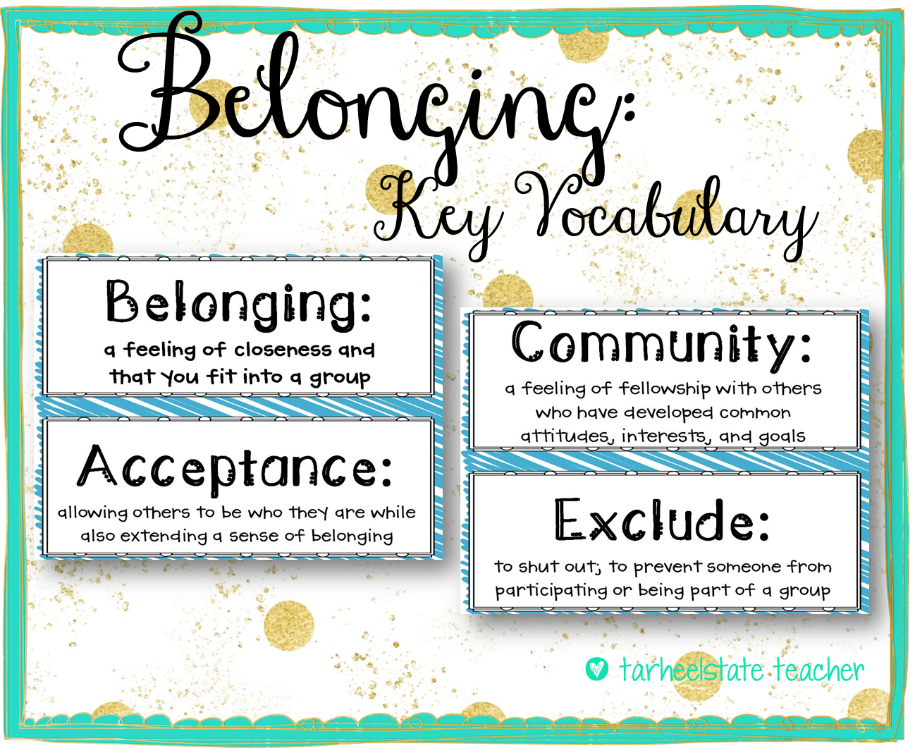 belonging and community Browse and read belonging creating community in the classroom belonging creating community in the classroom it sounds good when knowing the belonging.
