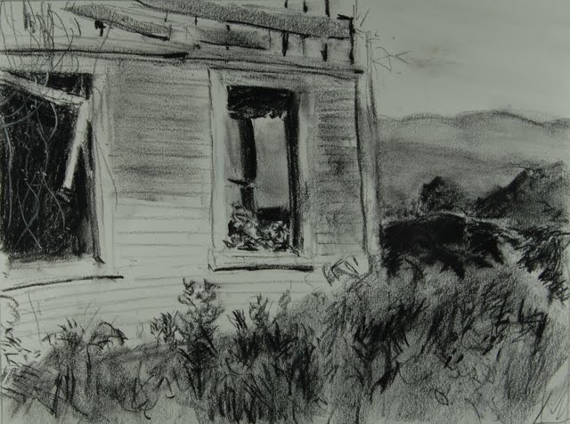 Abandoned Farm House With A View