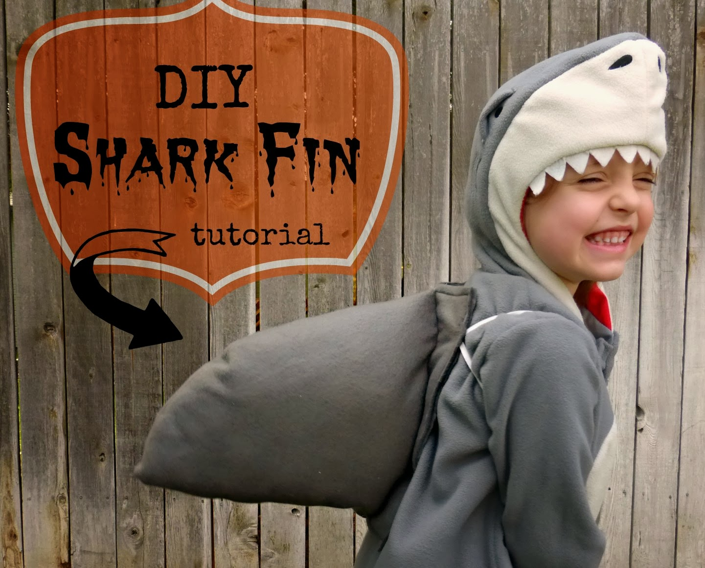 how to make a shark fin costume