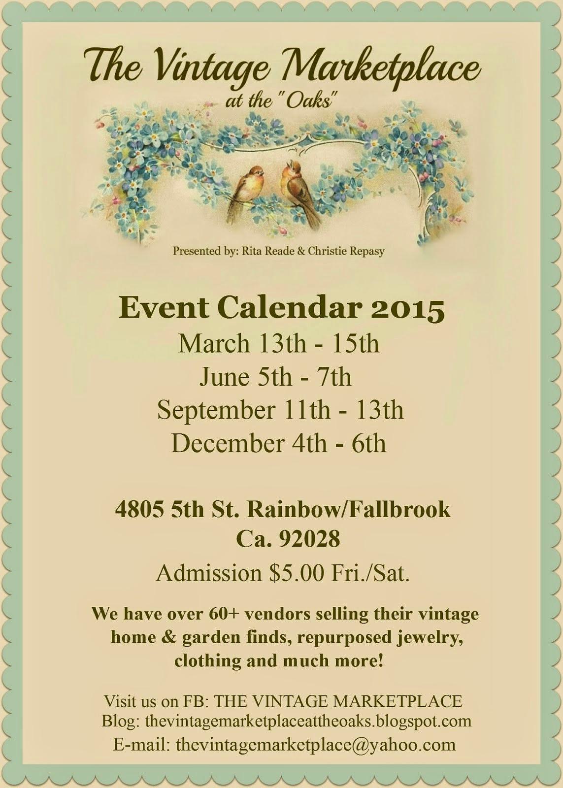 EVENT CALENDAR 2015
