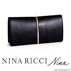Queen Letizia Style NINA RICCI Clutch Bag PRADA Pumps