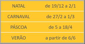 CALENDÁRIO FÉRIAS 2016/2017