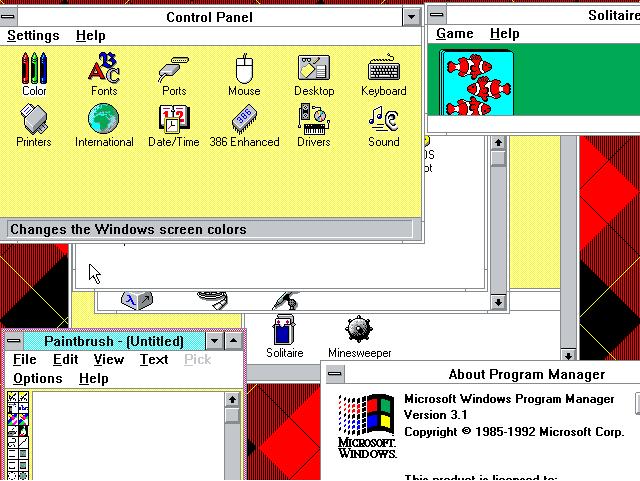 1992  Windows 3.1