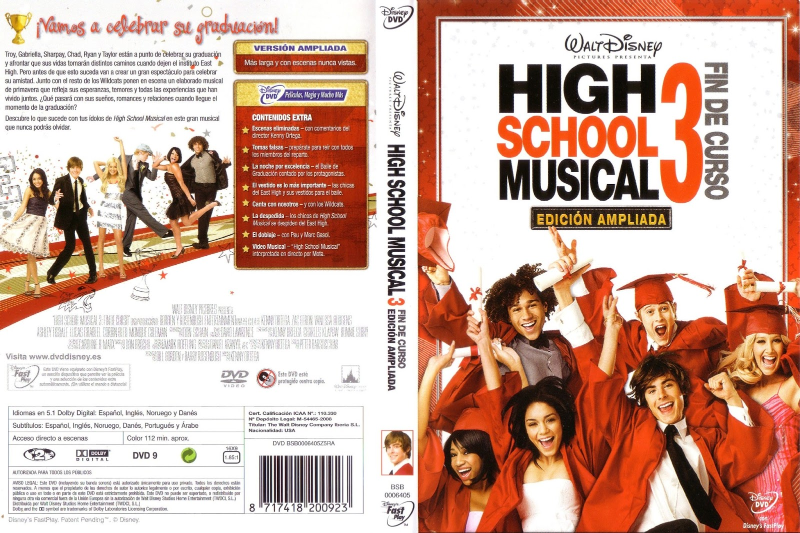 high school musical dvd en espanol: