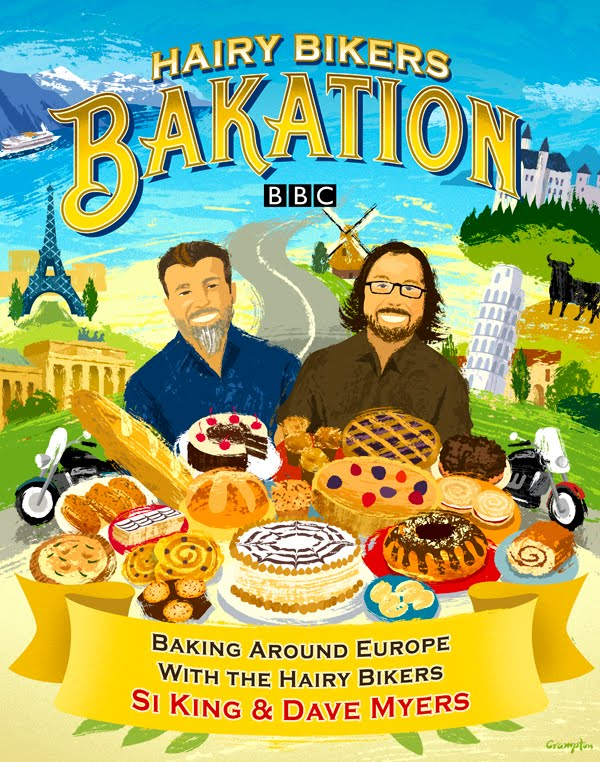 RETRO ILLUSTRATION: Hairy Bikers Bakation Book Cover