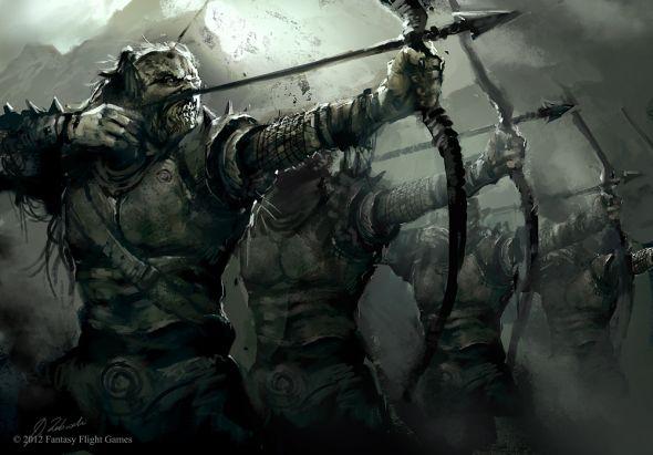 Darek Zabrocki daroz deviantart illustrations concept art fantasy games Orc archers squad