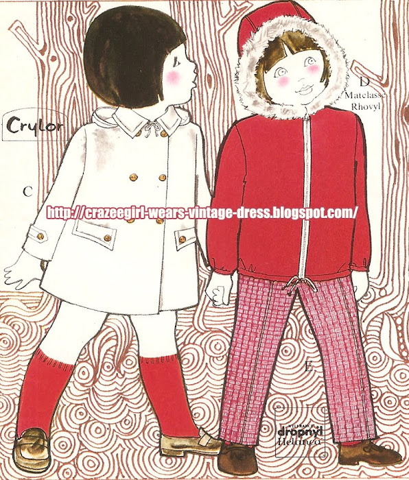 Kids fashion - La Redoute - 1970 graphic design 70s