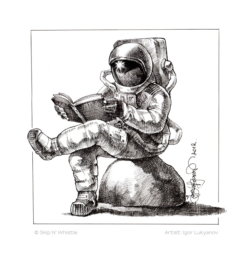 detailed drawings of astronauts - photo #42