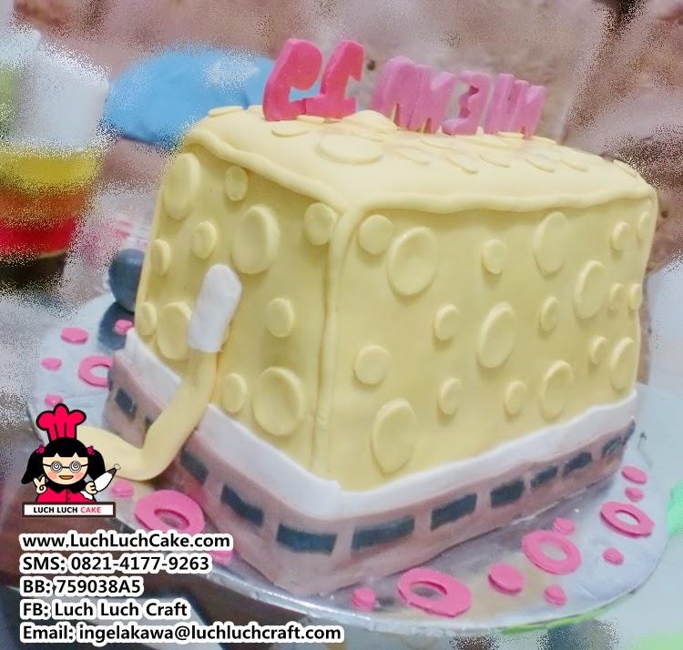 Pesan kue tart spongebob 3D daerah surabaya sidoarjo