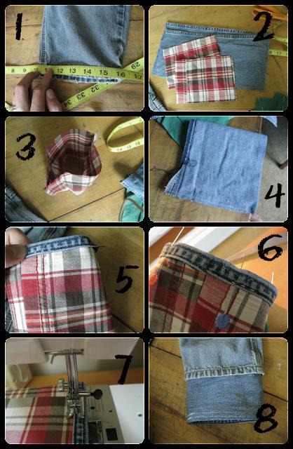 Как удлинить детские джинсы своими руками 55