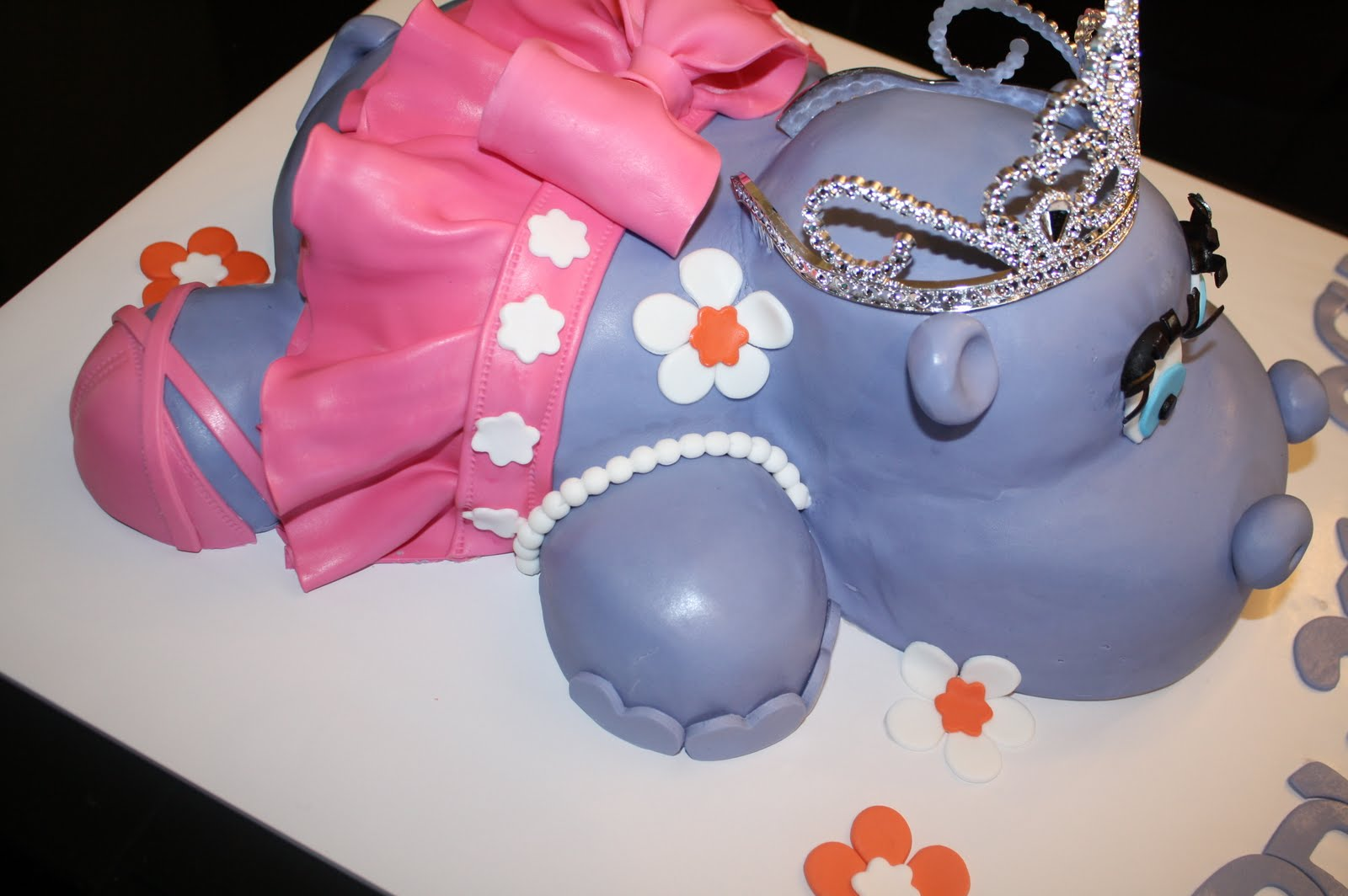 Sandys Cakes Ashs Ballerina Hippo 21st