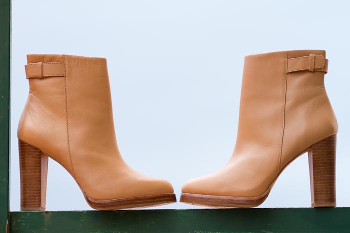 Botines de Cuero Zara color maquillaje tacón alto nude Compras de Blogger withorwithoutshoes Adicta a los Zapatos