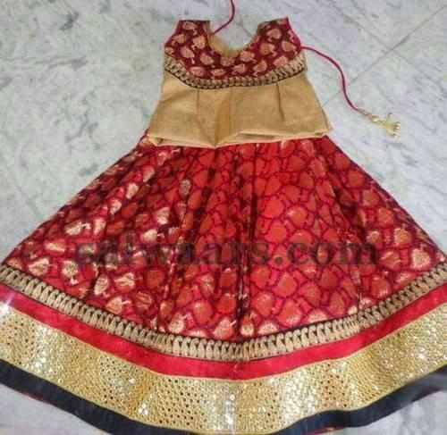 Benaras Skirt with Mirror Border