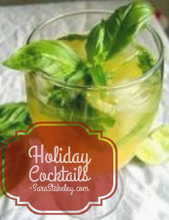 Holidays, drinks, clean, eat clean, new years, Christmas, Parties, entertainment, cocktails, punches, ice ring, Sara Stakeley, Honey simple syrup, festive, gatherings,