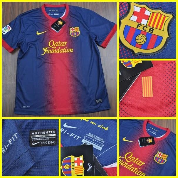 Kostum Kandang Barcelona Terbaru 2014