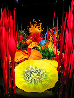 Glass art by Chihuly