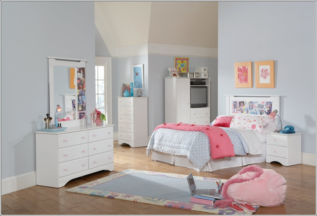 mod les de meubles blancs pour les chambres d 39 enfants. Black Bedroom Furniture Sets. Home Design Ideas