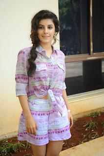 Isha Talwar in Lovely White purple printed Top and Mini Skirt Fresh Smile HQ Pics