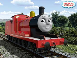 Gambar James dalam Kereta Thomas