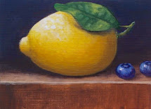 ACEO Lemon and Blueberries