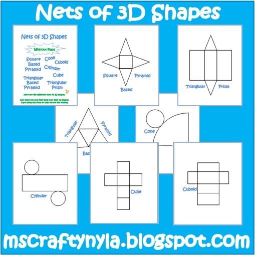 Simply centers free geometry foldable nets How to make 3d shapes