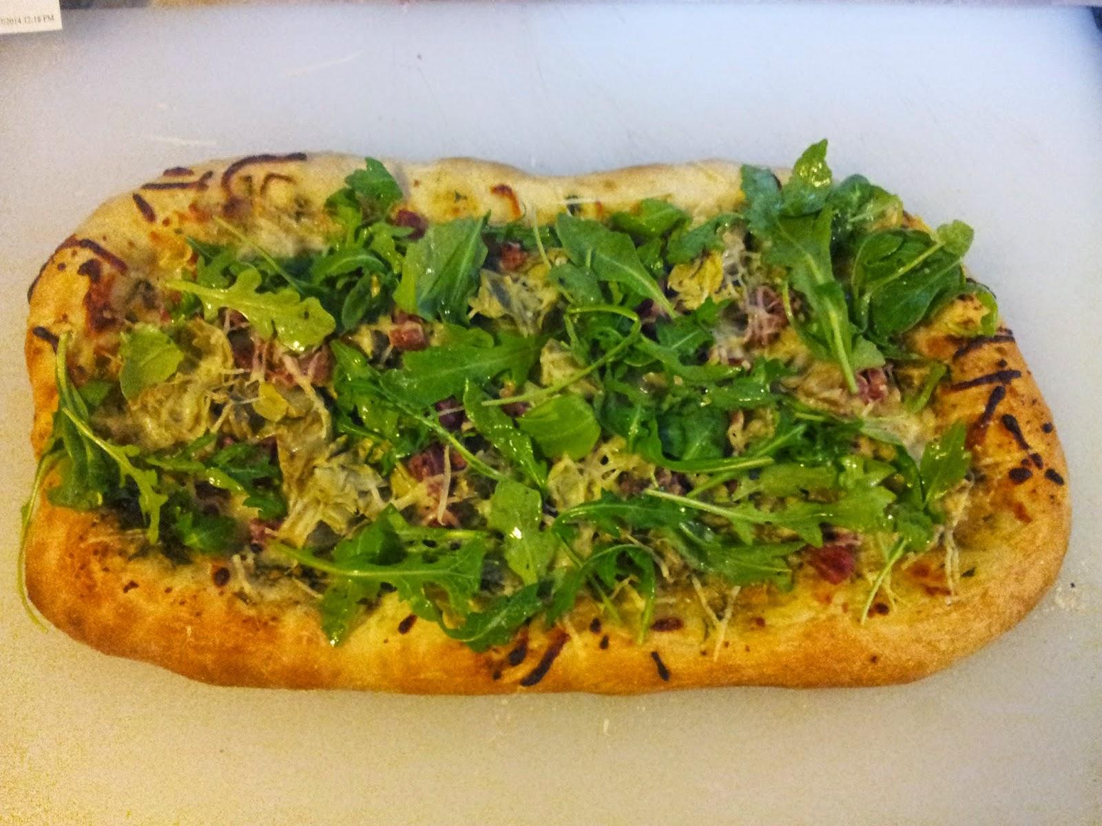 artichoke, arugula, and prosciutto pizza at home - the basics