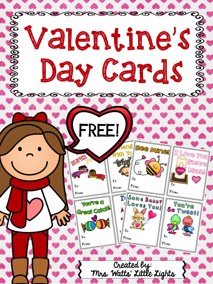 Valentine's Day Cards Freebie!