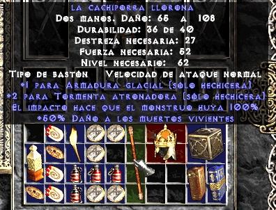 Arma exclusiva de personaje en Diablo II