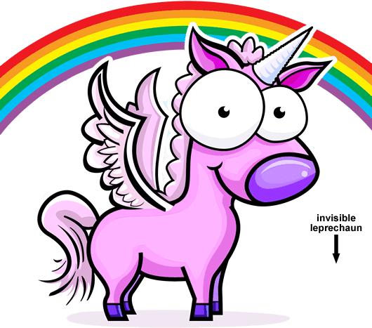 Pink unicorns bacon and rainbows