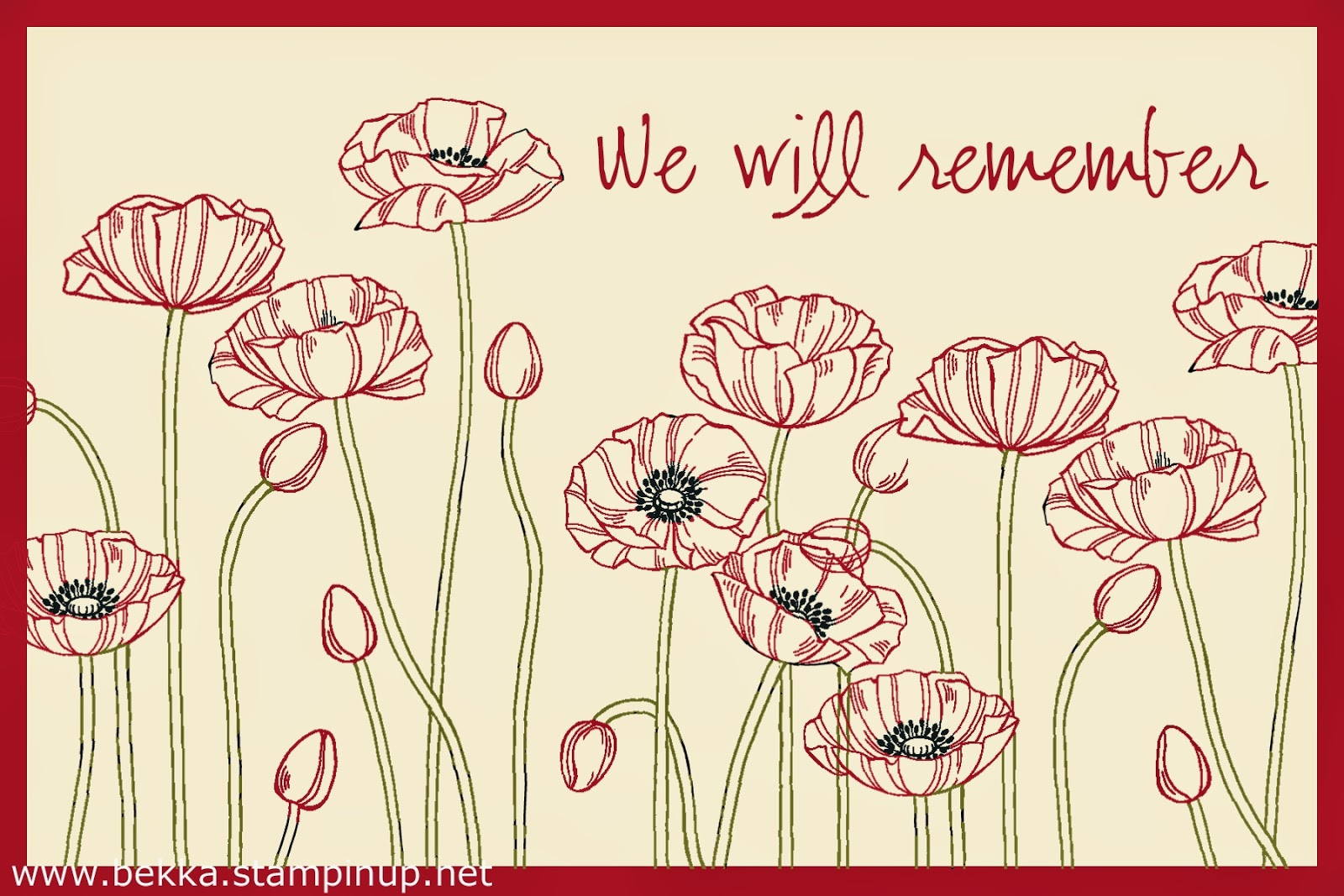 We Will Remember Free Download by Stampin' Up! UK Independent Demonstrator Bekka Prideaux Get it Free here
