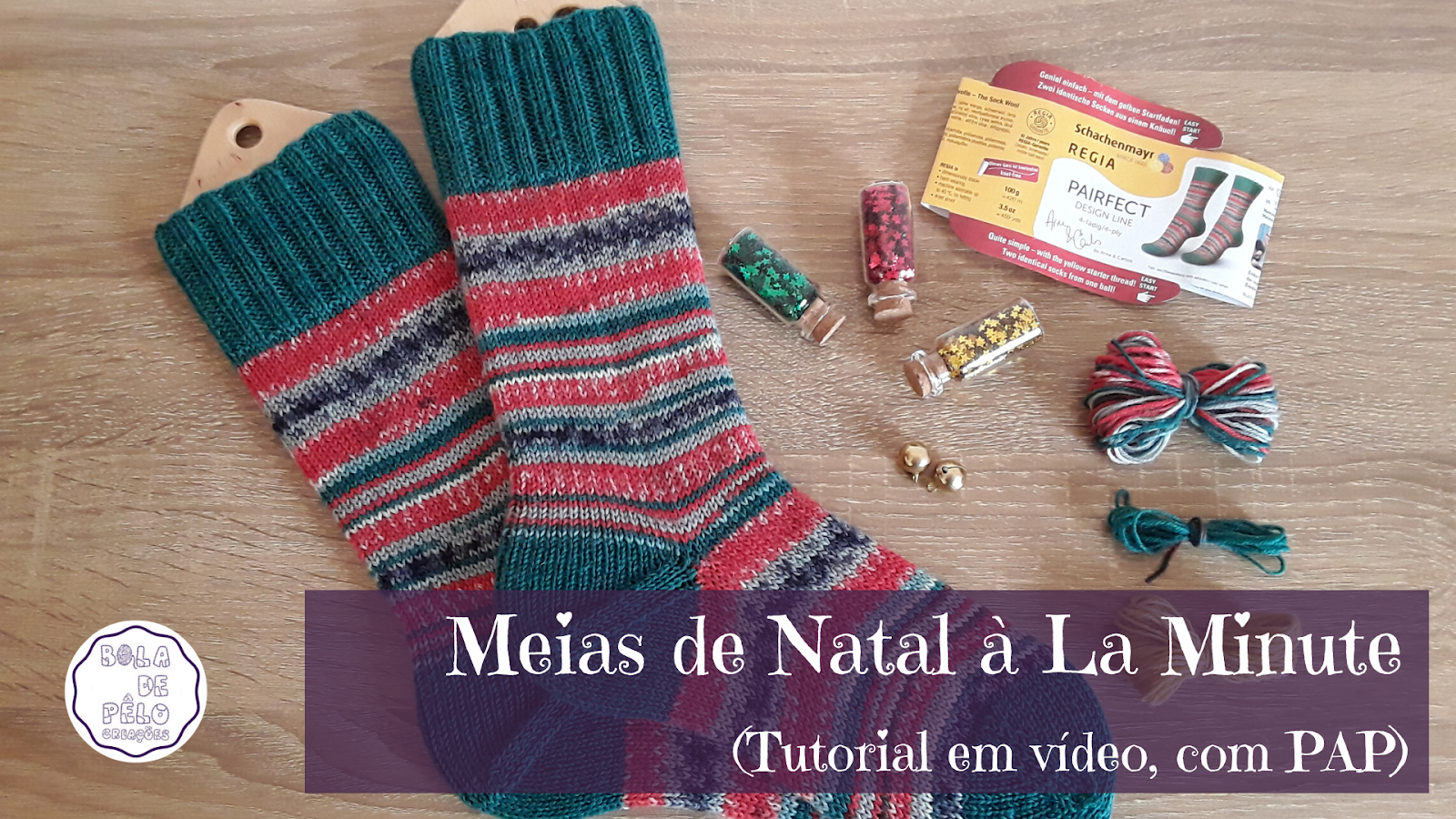 Novo Modelo de Meias e Vídeo Tutorial