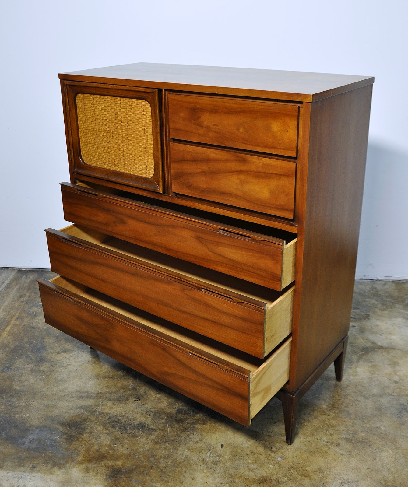 Select Modern Mid Century Highboy Or Gentleman S Chest Of