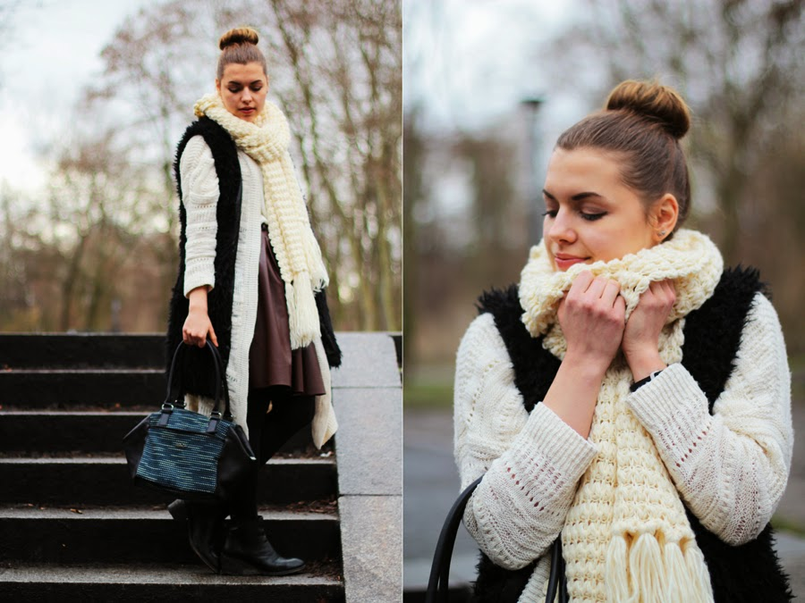 oversized scarves blogger