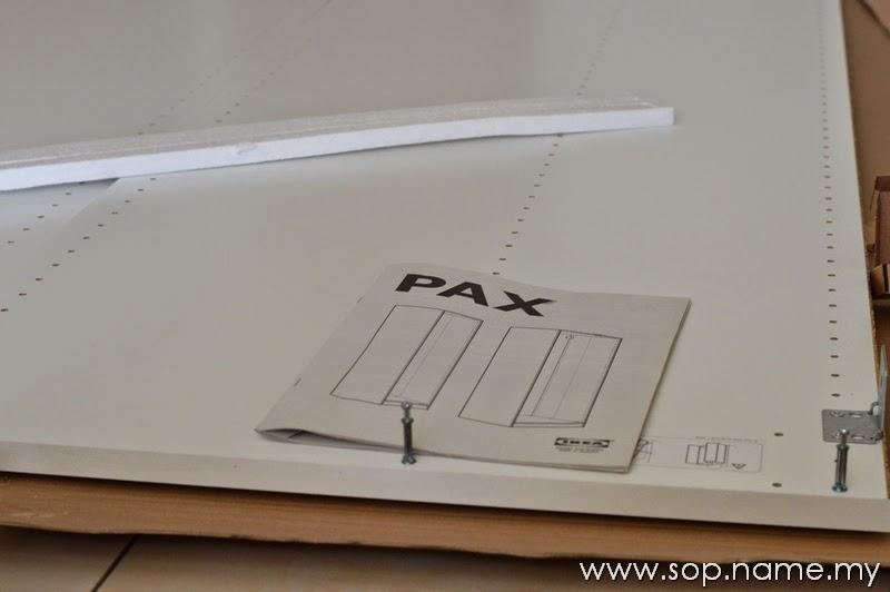 Projek pasang Almari IKEA PAX