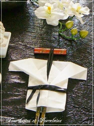 Fourchettes et porcelaine table nouvel an chinois - Table nouvel an ...