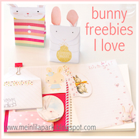round-up of free bunny downloads
