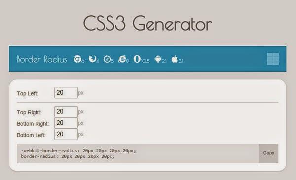 Tools Web Design Professional CSS3 Generato