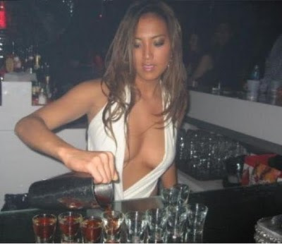 Busty bar waitresses